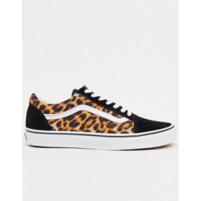バンズ メンズ スニーカー シューズ Vans Old Skool sneakers in leopard print Leopard / black