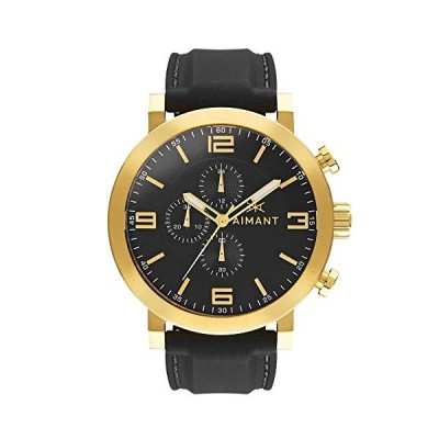 AIMANT Men's Watch Maui Gold with Black Sillicone Strap GMU-140SI1-1G 並行輸入品