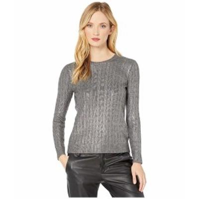 ラルフローレン レディース ニット&セーター アウター Cable-Knit Sweater Gunmetal