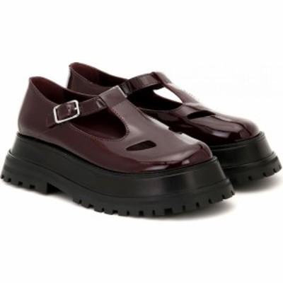 バーバリー Burberry レディース ローファー・オックスフォード シューズ・靴 aldwych patent leather platform loafers Oxblood