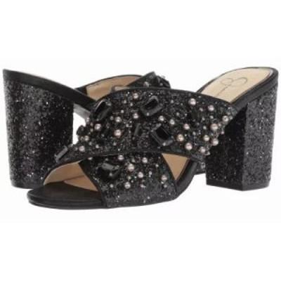 ジェシカシンプソン サンダル・ミュール Rizell Black Chunky Glitter/Shimmer Sand