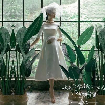 ウエディングドレス 披露宴 ワンピース 大きいサイズ ウエディングドレス 成人式 小きいサイズ ブライズメイドドレス 白 お呼ばれ パーティードレス