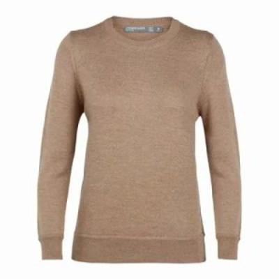 アイスブレーカー ニット・セーター Muster Crewe Sweater Camel Heather