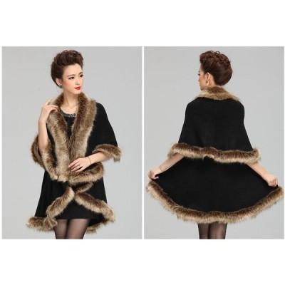 ファーストール結婚式にも毛皮ロシアンセーブル編み込みストール毛皮ファーファーストールショール毛皮ショール女性用ケープボレロ