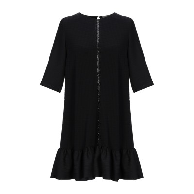 ピンコ PINKO ミニワンピース&ドレス ブラック 38 ウール 70% / レーヨン 28% / ポリウレタン 2% ミニワンピース&ドレス
