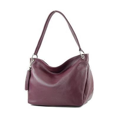 modamoda de - ital. Leather Case Shoulder Bag Shoulder Bag Genuine Leather T154, Colour:Bordeaux violet 並行輸入品