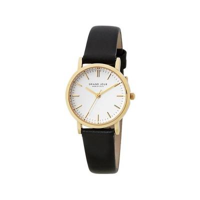 サンフレイム レディスウォッチ 日本製腕時計/GRAND JOUR(グランジュール) ブラック MJ-GJQA03-BK(取)