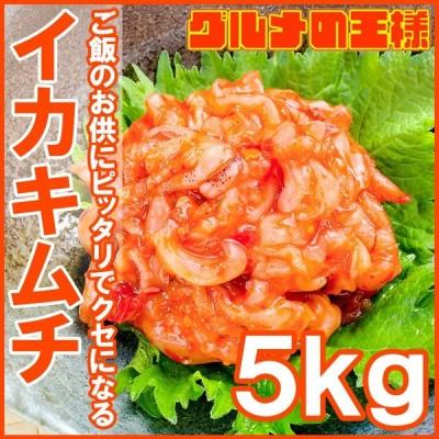 イカキムチ いかキムチ 2.5kg 500g×5パック たっぷり業務用の新鮮イカキムチ