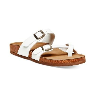 マッデンガール サンダル シューズ レディース Bryceee Footbed Sandals White