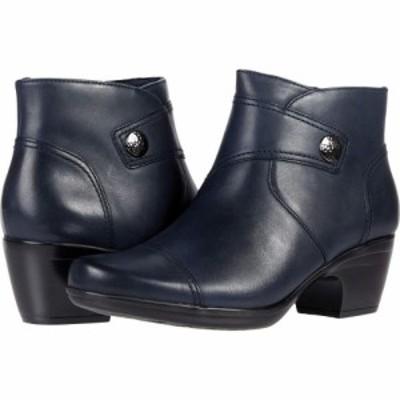 クラークス Clarks レディース ブーツ シューズ・靴 Emily Calle Navy Leather