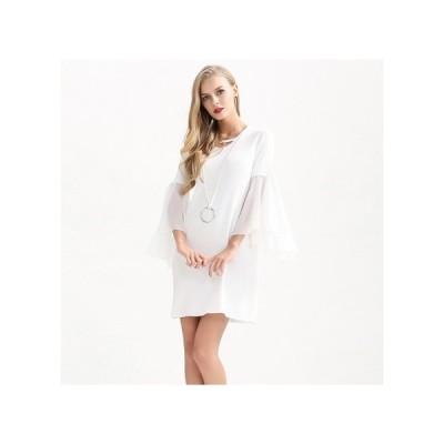 ベルスリーブ シースルー パーティードレス スカート ミニ丈 レディース ワンピース お呼ばれドレス kh-0600