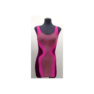 レディース ドレス・ワンピース ブライアンリッテンバーグ Brian Lichtenberg ノースリーブ ピンク カラーblock ドレス サイズ:M