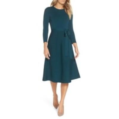 エリザジェイ レディース ワンピース トップス Fit & Flare Sweater Dress SPRUCE