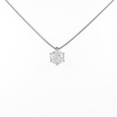 プラチナダイヤモンドネックレス 0.691ct・G・SI2・GOOD