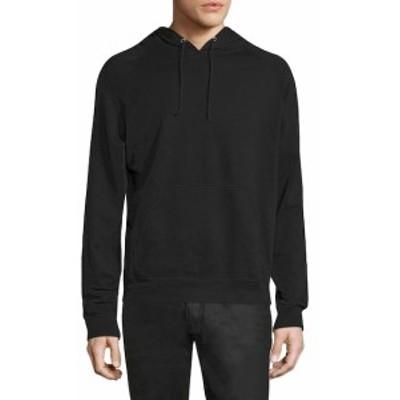 ブラックデニム Men Clothing Solid Cotton Sweatshirt