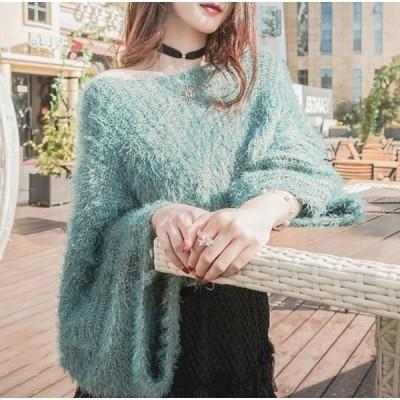 ゆるニット レディース モヘア風 ニットセーター トップス 大人可愛い ゆるふわ 長袖 オシャレ ふわふわ 手触り良い カジュアル ゆったり