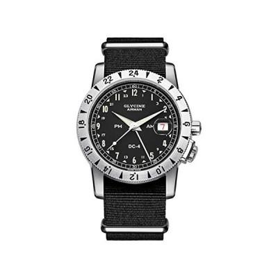 Glycine Men's Watch Airman DC-4 Vintage GMT Date Analogue Automatic GL0071-3904.191H12.TB9 並行輸入品