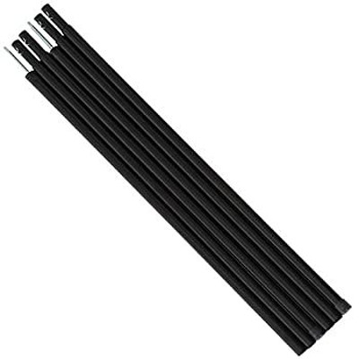 DOD(ディーオーディー) テント タープポール 2本セット ペグ&ロープ&収納袋付 【グレー/ブラック/レッド】