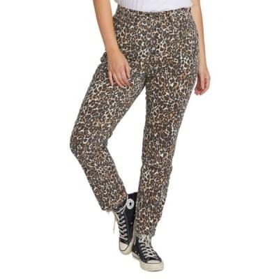 ボルコム デニム ボトムス レディース Super Stoned Animal Print Ankle Skinny Jeans Animal Print