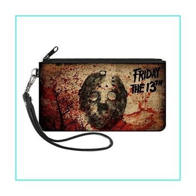 """【新品】Buckle-Down Women's Zip Wallet Friday the 13th Jason Small, 6.5"""" x 3.5""""(並行輸入品)"""