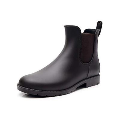 [Tomorrow's star] レインシューズ レディース レインブーツ 雨靴 サイドゴア 晴雨兼用 ブラウン 23.0~23.5cm