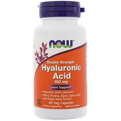 ヒアルロン酸、ダブル強度、100 mg、60植物性カプセル