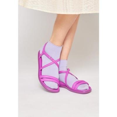 エコー レディース 靴 シューズ SIMPIL - Sandals - phlox neon