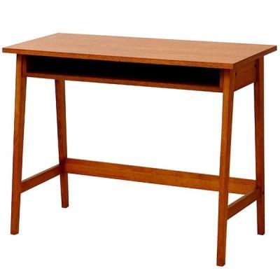 テーブル パソコンデスク 在宅ワーク オーク材 デスクブラウン 棚 収納 インテリア 机 単品 hommage Desk HMT-2462BR