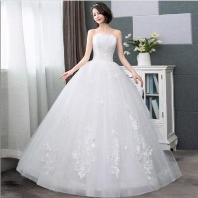 ロングドレス ウエディングドレス ブライダル 素敵 ワンピース 大きいサイズ 冠婚 ロング丈ワンピース 綺麗 結婚式 花嫁 パーティードレス プリンセスライン
