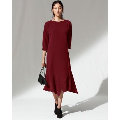 スポンジW・裾切替デザインワンピース