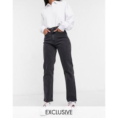 トミー ヒルフィガー レディース デニムパンツ ボトムス Tommy Jeans ultra high rise straight jeans in wash black