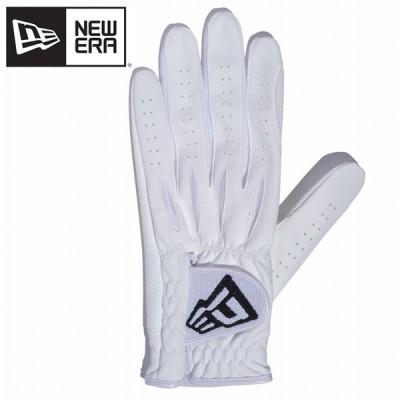 NEW ERA ゴルフ グローブ フラッグロゴ ホワイト 3サイズ展開 メンズ レディース N0830