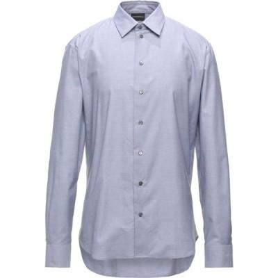アルマーニ EMPORIO ARMANI メンズ シャツ トップス solid color shirt Sky blue