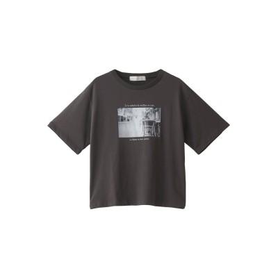 31 Sons de mode トランテアン ソン ドゥ モード フォトTシャツ レディース チャコール 36