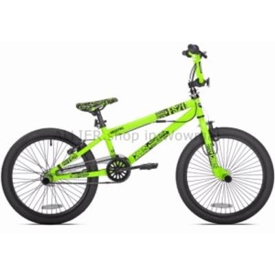 """BMX フリースタイルBMXバイク男の子自転車キッズトリックスタントバイクフリーホイール20 """"グリーン  Freestyle B"""