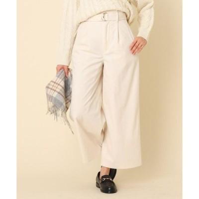 Couture Brooch / クチュールブローチ 【手洗い可】コーデュロイベルテッドパンツ