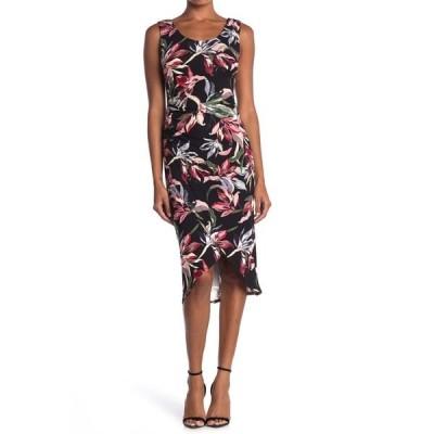ティー・タハリ レディース ワンピース トップス Floral Sleeveless Tulip Hem Midi Dress PRINT
