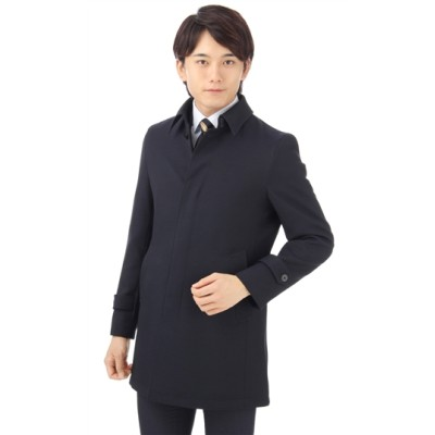 ステンカラースタイリッシュコート【合繊】