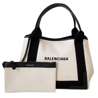 バレンシアガ BALENCIAGA レディース トート バッグ ハンドバッグ ネイビー カバ S 339933 AQ38N 1081 ナチュラル/ノアール
