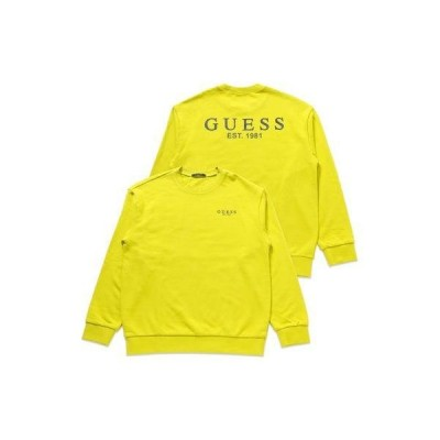 ゲス GUESS Unisex Big Logo Sweat (LIME)