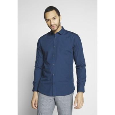 オンリーアンドサンズ メンズ シャツ トップス ONSSANE SOLID POPLIN - Shirt - dress blues dress blues