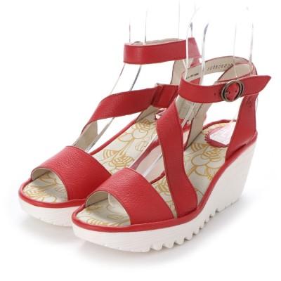 ヨーロッパコンフォートシューズ EU Comfort Shoes FLYLONDON サンダルパンプス(500.526) (レッド/ホワイト)