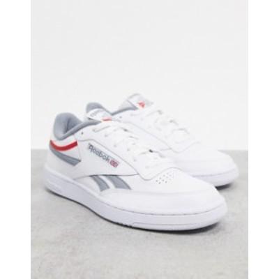 リーボック メンズ スニーカー シューズ Reebok Club C Revenge sneakers in white with gray vector White