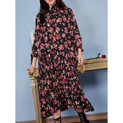 Regal Rose Midi Dress