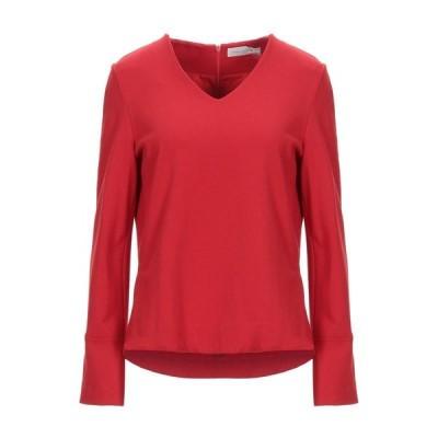 ANNA SERAVALLI Tシャツ  レディースファッション  トップス  Tシャツ、カットソー  半袖 レッド