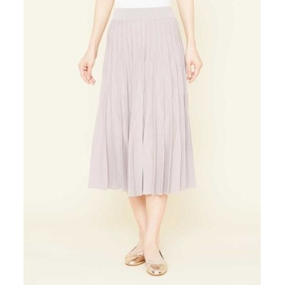 Sybilla/シビラ デザインプリーツニットスカート ライトグレー 40