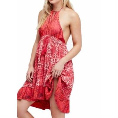 Free People フリーピープル ファッション ドレス Free People NEW Red Womens Size Large L Beach Day Mini Shift Dress