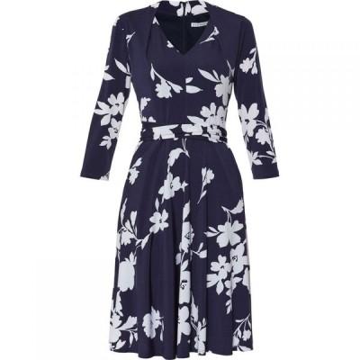 ジーナ バッコーニ Gina Bacconi レディース ワンピース ワンピース・ドレス Madyn Tie Waist Dress Navy