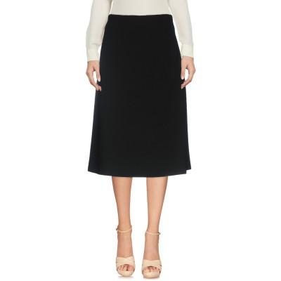PESERICO SIGN 7分丈スカート ブラック 40 ポリエステル 64% / レーヨン 27% / コットン 6% / ポリウレタン 3%