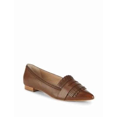 サックスフィフスアベニュー レディース フラットシューズ Kayla Fringed Leather Loafers